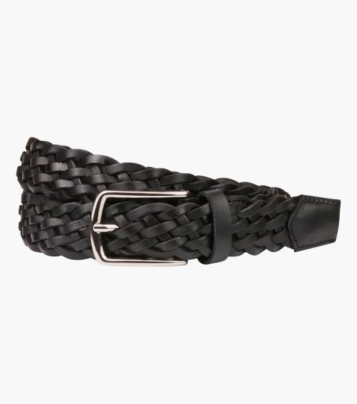 Neeson Leather Braid Belt