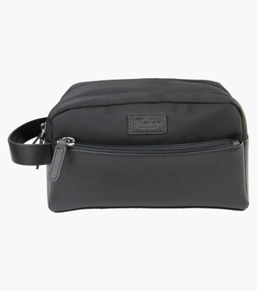 Limerick Nylon & Leather Toiletry Bag