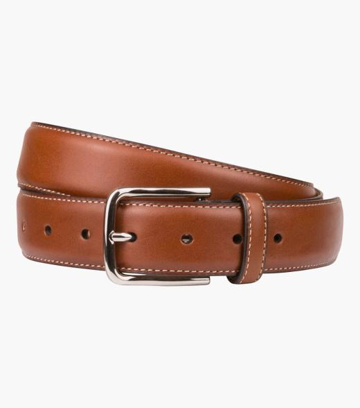 Cruise  Stitched Crossover Leather Belt