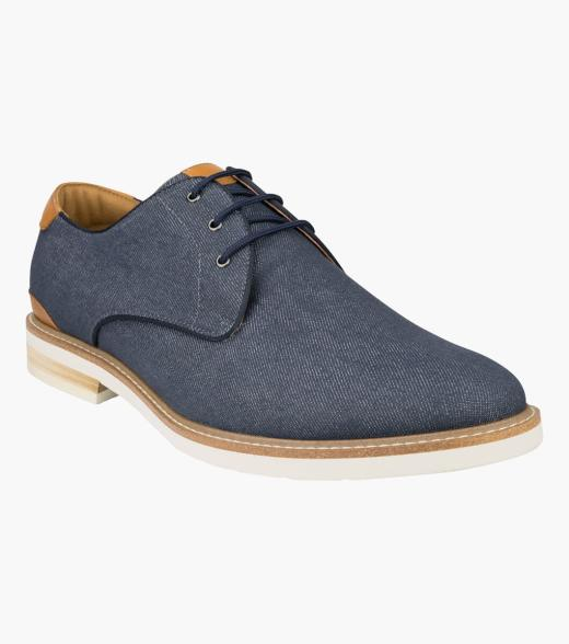 Highland Canvas Plain Toe Derby