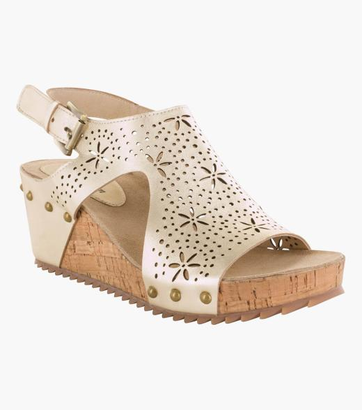 Signet Open Toe Wedge