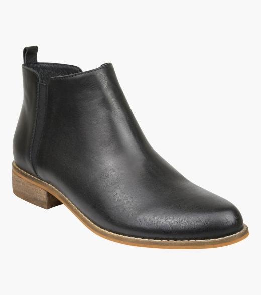 Melanie Plain Toe Ankle Boot