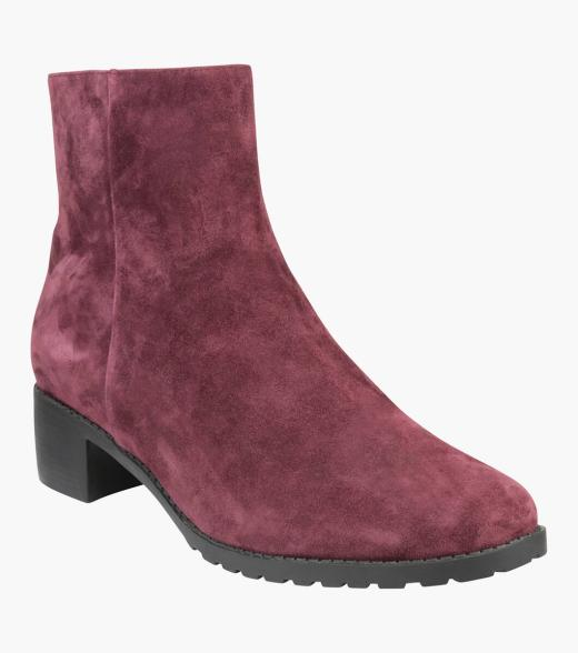 Jean Round Toe Ankle Boot